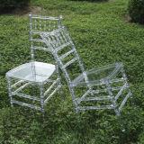 Claro transparente de resina de alta qualidade Cadeira de Chiávari