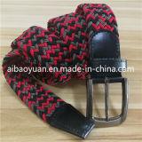 Lisse taillée sangle de boucle ceinture élastique tissée