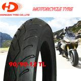 Hochwertiger schlauchloser Motorrad-Gummireifen 90/90-12