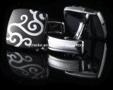 Het Email van de Prijs van de fabriek om Cufflinks de Langwerpige Goedkope Knopen van het Manchet van het Messing van het Metaal