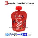 Bebida de suco de frutas misturadas com 100% de bebidas alcoólicas Stand up Spout Pouch Packaging Bag