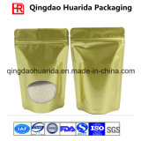 金カラーは食品包装のためのジッパー袋を立てる