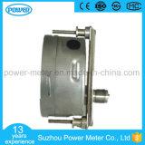 100mm todo o aço inoxidável com calibre de pressão da conexão da braçadeira o mais baixo