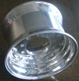 Fuori della rotella forgiata Polished del camion della lega di alluminio (22.5X14.0)