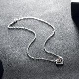 Het eenvoudige Mooie Ontwerp van de Halsband van de Tegenhanger van de Vorm van het Hart Zilver Geplateerde voor Vrouwen