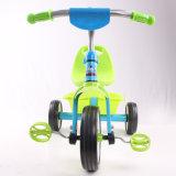Marco de acero 3 ruedas niños bicicleta con cesta trasera
