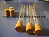 Tubi di vetro del sigaro con sughero