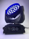 移動ヘッドライト36X10W RGBW 4in1 LEDズームレンズ