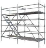 Caja de acero de andamio Ringlock Plank/Plataforma / placa con la construcción
