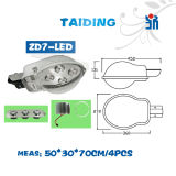 Réverbère extérieur en aluminium de l'éclairage DEL de lampe du boîtier DEL de lampe de route de ville et de village des prix d'usine Zd7-LED