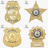 Divisas de encargo baratas de la seguridad de la policía del oro para el recuerdo de los E.E.U.U.