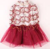 2014 chaud ! ! ! Les enfants des vêtements à manches longues Filet à rayures Princess Girl Dress de gros de vêtements pour enfants