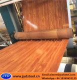 Bobina de aço de madeira do projeto PPGI para portas do obturador