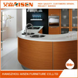 2018 Hangzhou Oak folheado de madeira natural de fabricante de móveis de cozinha
