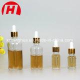 Aceite Esencial de vidrio de alta calidad Goldern botellas con tapa de aluminio
