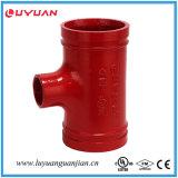 Té réducteur fileté malléable de fer FM d'homologation cotée de l'UL 76.1*60.3