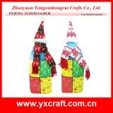 Décoration de Noël (ZY14Y52-3-4) Vin de Noël noël ornement de plafonnement et d'écharpe en tissu