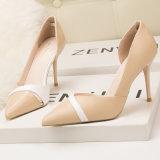 Les femmes Satin talon haut de la TOE pointues talons de chaussures de mariage robe partie de la pompe