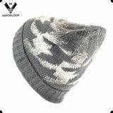 Шлем шарфа Knit шерстей жаккарда Houndstooth способа