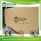 Tapume Eco-Friendly da parede exterior do Woodgrain do cimento da fibra