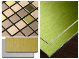 لون ألومنيوم مرطبة لوح مع نوع ذهب فرشاة أو فضة فرشاة