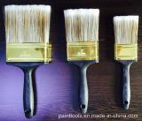 Mascota de filamentos de cepillo con mango de plástico negro