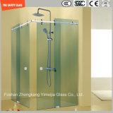 簡単なステンレス鋼フレームのシャワー室、シャワー機構、シャワーの小屋、浴室、シャワー・カーテンを滑らせる調節可能な6-12緩和されたガラス