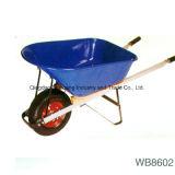 Wheelbarrow 200kg&110L resistente com punho de madeira (WH8805)