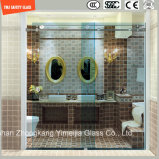 Réglable 6-12 Verre trempé coulissant Cadre simple en acier inoxydable Salle de douche, cabinet de douche, cabine de douche, salle de bain, écran de douche