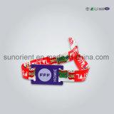 직업적인 축제 Ntag 213 칩을%s 가진 직물에 의하여 길쌈되는 RFID 소맷동 팔찌