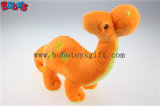 Orange suave Plush Dinosaur Toy con Embroidery Bodybos1194