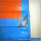 Blauer orange wasserdichter PET Plane-Deckel mit Ösen