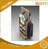 Coffret d'étalage en bois personnalisé par bruit de contre- dessus, cas d'exposition en bois de détail de supermarché pour le vêtement/vente/livre du gosse