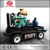 6 pulgadas de 60 kw Diesel en silencio la bomba de agua 400m3/hr 70psi con remolque