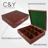 12 Compartimentos Caixa de chá de madeira chineses com bloqueio