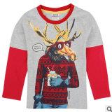 Le nouveau 2014 Le garçon Coton T-Shirt à manches longues caricature de la marque de l'impression de rendre non doublés Partie superieure de vêtements pour enfants