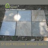 Tuile en bois jaune de l'ardoise St-014 pour le revêtement de plancher et de mur