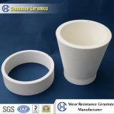 Guarniciones de cerámica del tubo del alúmina resistente resistente a los choques de la abrasión aplicadas a la minería