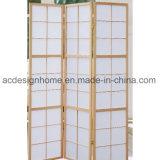 Sezioni comode giapponesi cinesi classiche normali popolari di stile 3 non tessute/schermo dello Shoji & divisori pieganti di legno