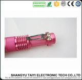 Lanterna elétrica de alumínio ao ar livre da tocha clara colorida do diodo emissor de luz do CREE