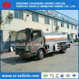 가벼운 의무 Sinotruk HOWO 4X2 5000L 연료 탱크 트럭 5m3 기름 Refueling 트럭