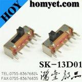 Tipo interruptor deslizante de la INMERSIÓN de la fuente 4pin de la fábrica de China/interruptor eléctrico (SK-13D01)