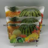 Bac d'aliments, assiette de fruits