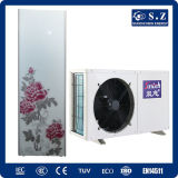 TUV, Ce Approved Max 60c Hot Water Home Using 3.5kw, 5kw, 7kw, 9kw 220V/Ratory Compressor Domestic Hot Water Heat Pump voor Dhw
