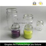 Vela de vidro Scented do frasco com o fabricante da tampa do vidro liso