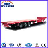 45 FT chasis de camión de transporte de contenedores de superficie plana semi remolque con el cuello de cisne