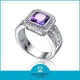 Zafiro moda anillo plata ventas en línea (I-0122)