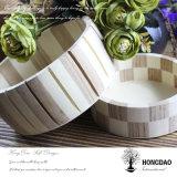 Hongdao 최신 판매 Customizable 둥근 나무로 되는 포장 Box_D