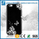 La couverture de luxe de vente de téléphone mobile de Rhinestones de Bling chaude la plus neuve pour l'iPhone 5/5s/Se