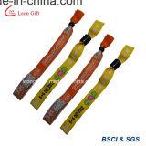 Custom из тканого полиэфирного волокна спорта браслет оптовая торговля
